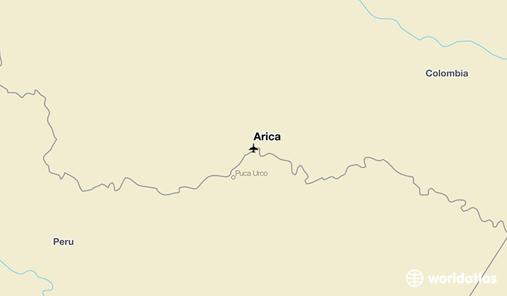 Arica location on a map