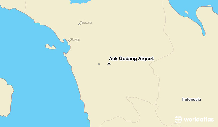 Aek Godang Airport location on a map