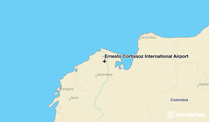 Ernesto Cortissoz International Airport location on a map