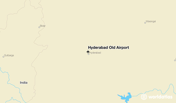 Hyderabad Old Airport location on a map