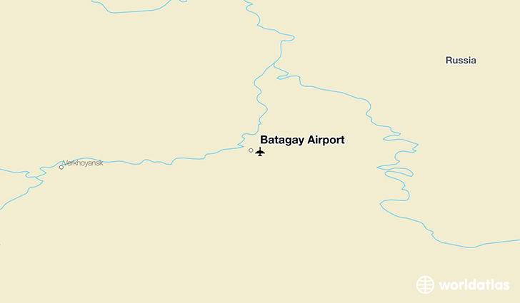 Batagay Airport location on a map