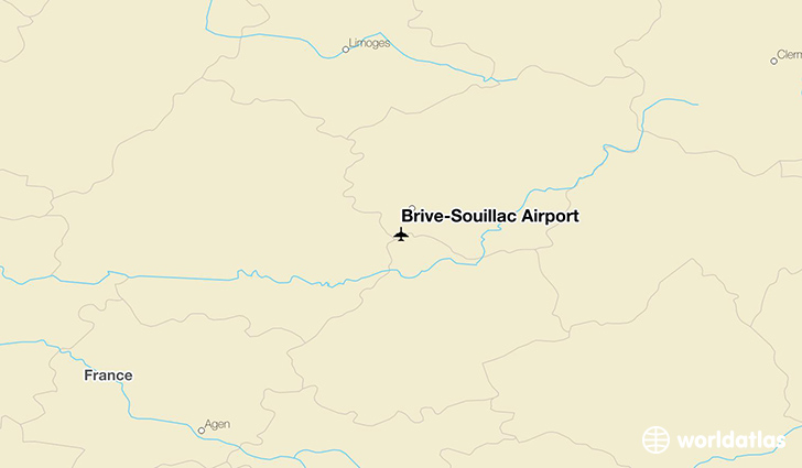 Brive–Souillac Airport location on a map