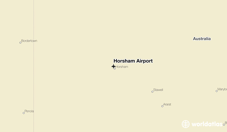 Horsham Airport location on a map
