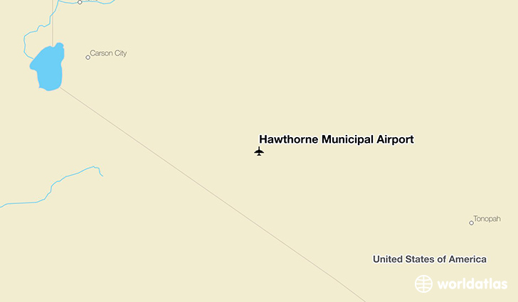 Hawthorne Municipal Airport location on a map