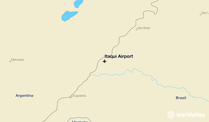 Itaqui Airport location on a map