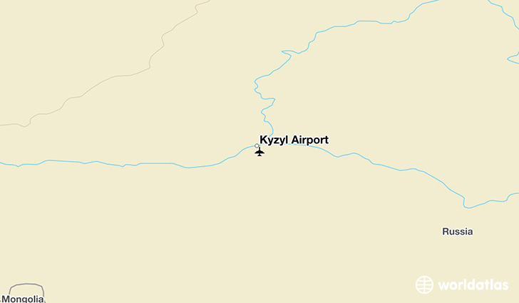 Kyzyl Airport location on a map
