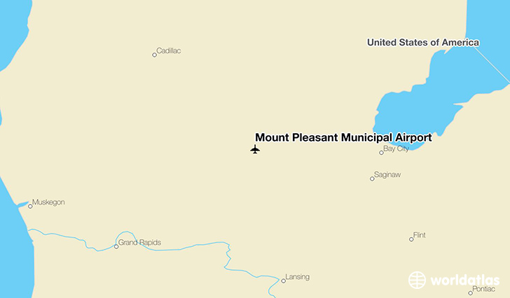 Mount Pleasant Municipal Airport location on a map