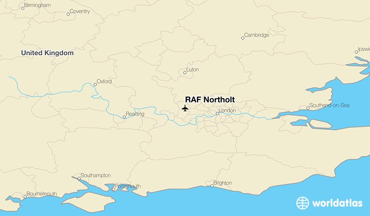 RAF Northolt location on a map