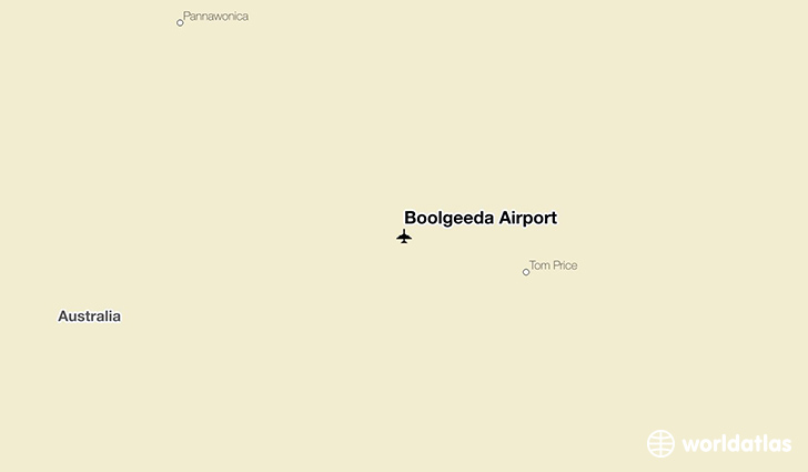 Boolgeeda Airport location on a map