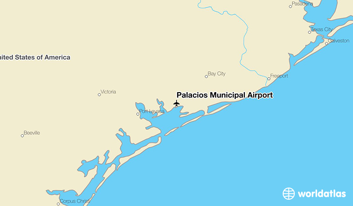 Palacios Municipal Airport location on a map