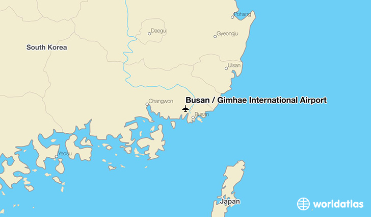 Busan / Gimhae International Airport location on a map