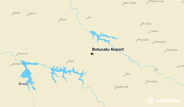 Botucatu Airport location on a map