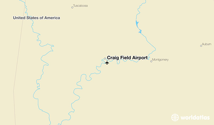 Craig Field Airport location on a map