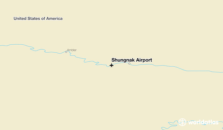 Shungnak Airport location on a map