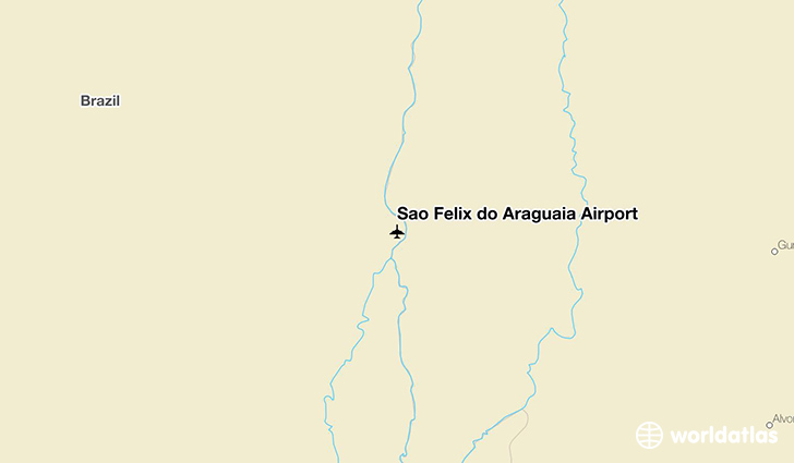 São Félix do Araguaia Airport location on a map