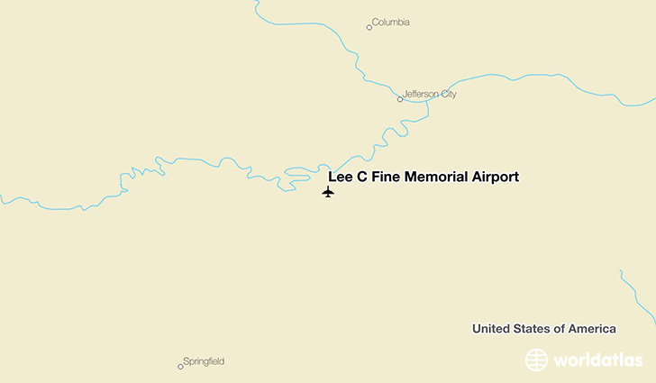 Lee C Fine Memorial Airport location on a map