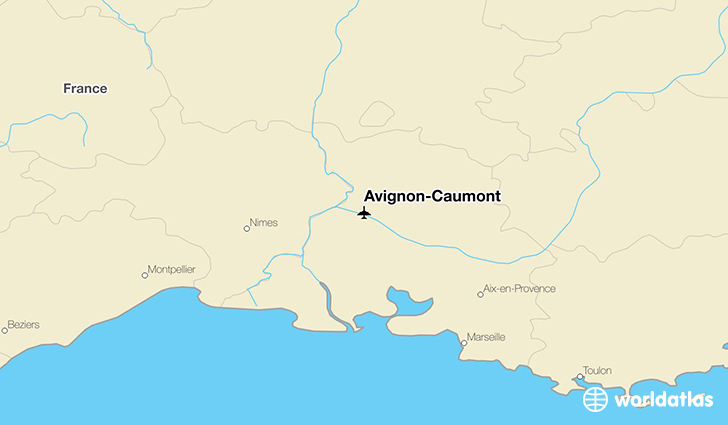 Avignon-Caumont location on a map