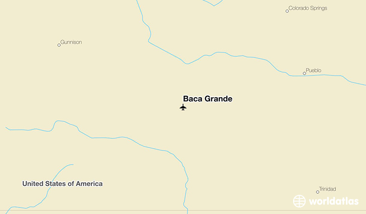 Baca Grande location on a map