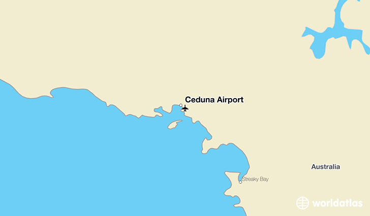 Ceduna Airport location on a map