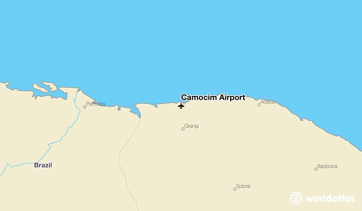 Camocim Airport location on a map