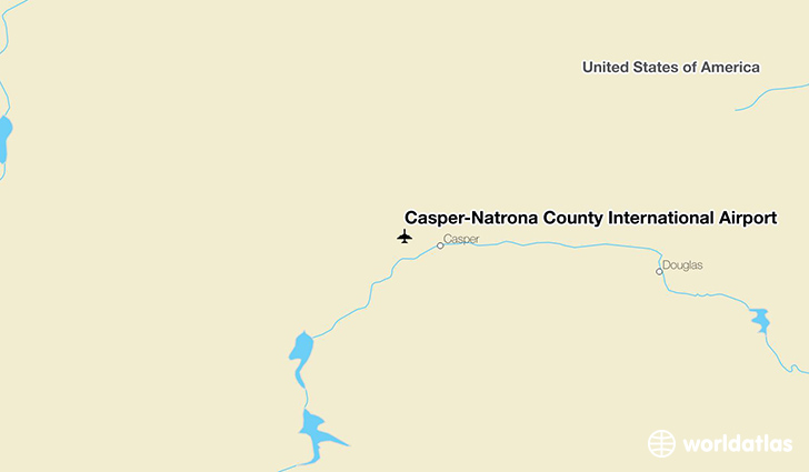 Casper–Natrona County International Airport location on a map