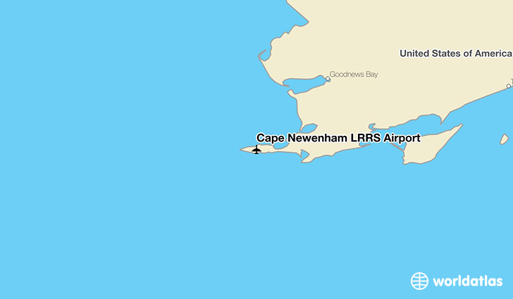 Cape Newenham LRRS Airport location on a map