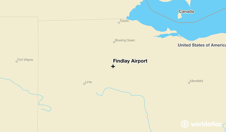 Findlay Airport location on a map