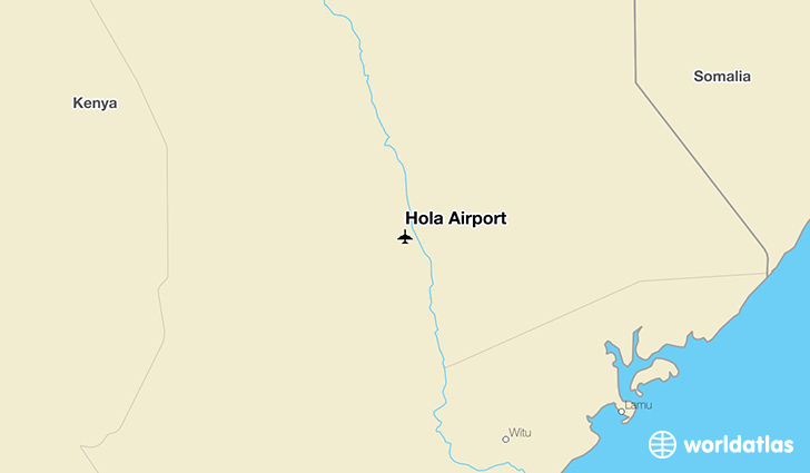 Hola Airport location on a map