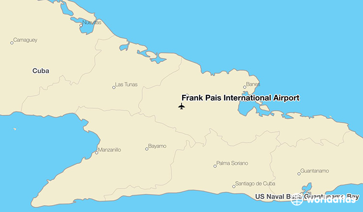 Frank País International Airport location on a map