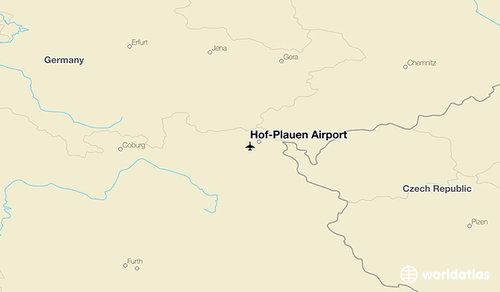 Hof–Plauen Airport location on a map