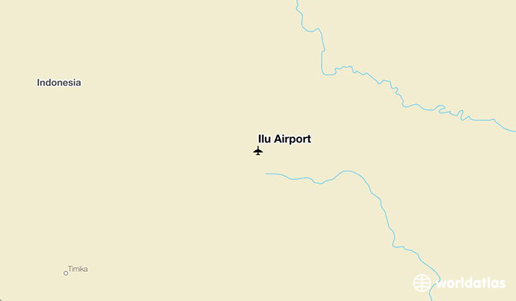 Ilu Airport location on a map
