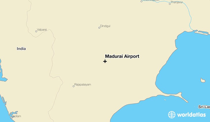 Madurai Airport Location Map Madurai Airport (IXM)   WorldAtlas