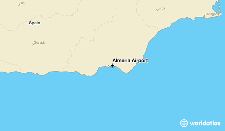 Almería Airport location on a map