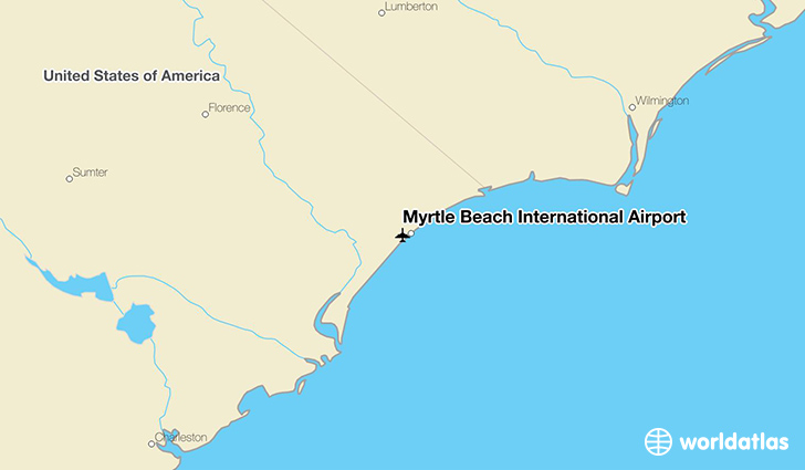 Myrtle Beach International Airport Location On A Map