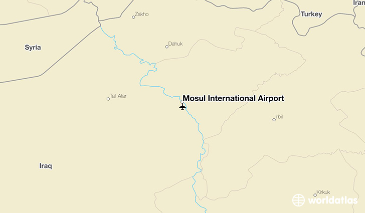Mosul International Airport location on a map