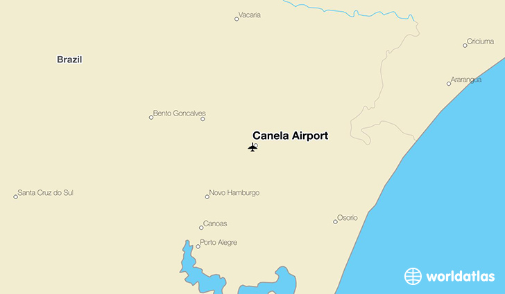 Canela Airport location on a map