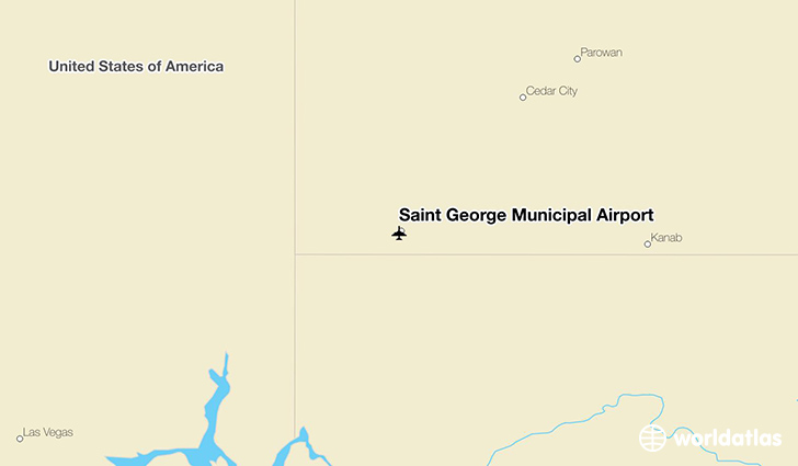 Saint George Municipal Airport location on a map