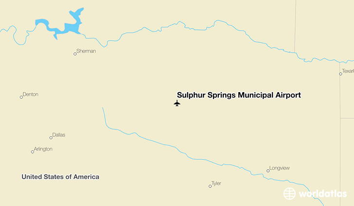 Sulphur Springs Municipal Airport location on a map