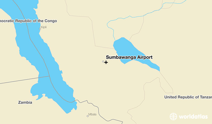 Sumbawanga Airport location on a map