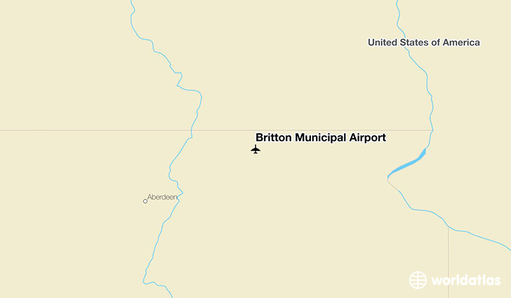Britton Municipal Airport location on a map