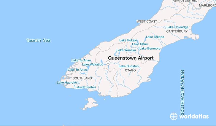 queenstown airport zqn worldatlas