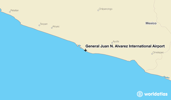 General Juan N. Álvarez International Airport location on a map
