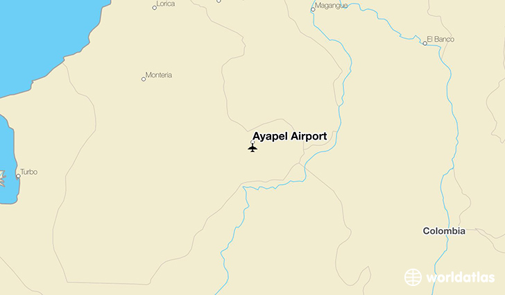 Ayapel Airport location on a map