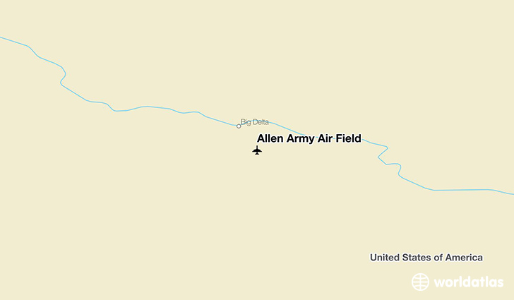 Allen Army Air Field location on a map