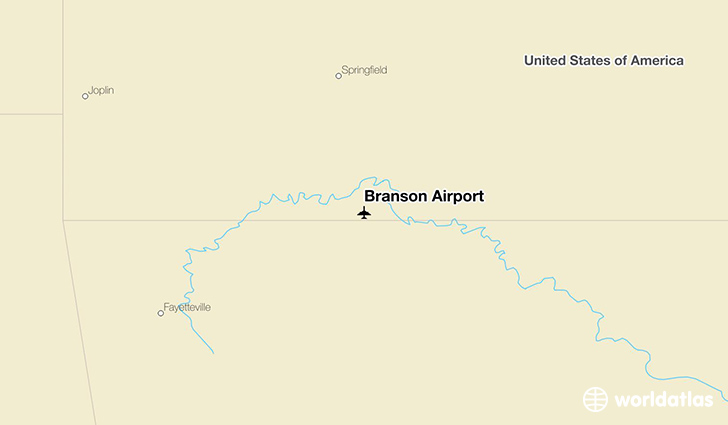 Branson Airport location on a map