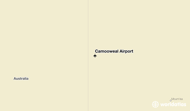 Camooweal Airport location on a map
