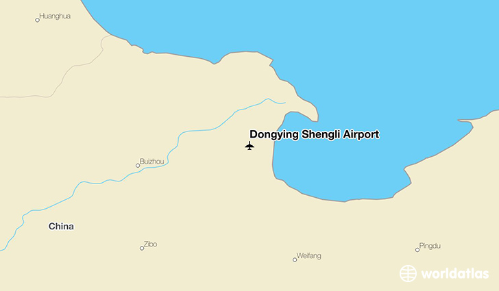 Dongying Shengli Airport location on a map