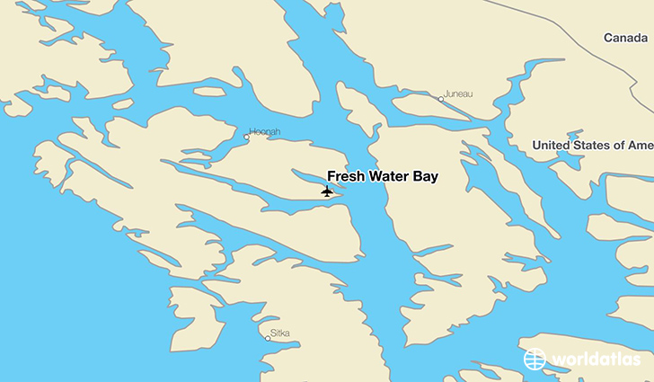 Fresh Water Bay location on a map
