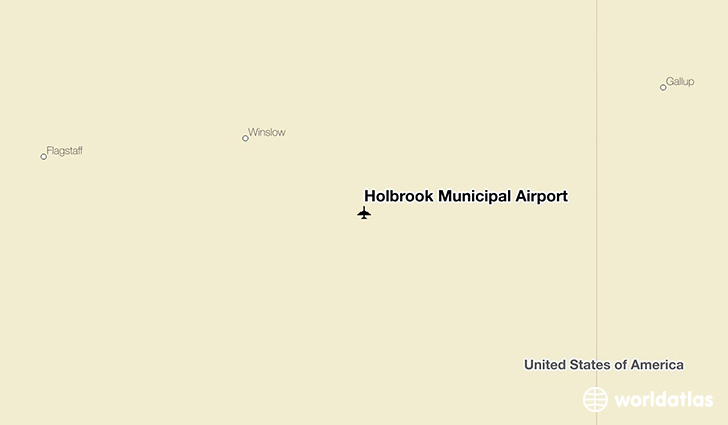 Holbrook Municipal Airport location on a map