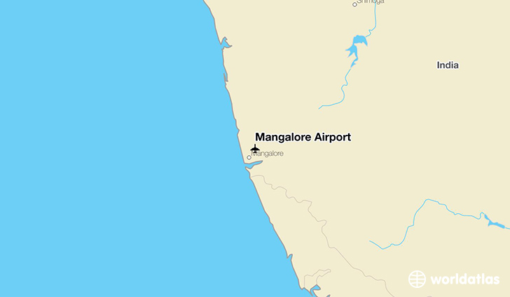 Mangalore Airport location on a map